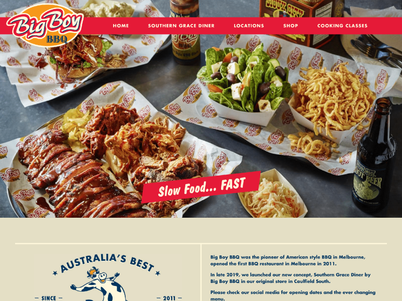 Big Boy BBQ website
